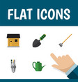 flat icon dacha set of pump stabling tool and vector image