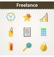 Flat icons for freelance and business vector image vector image