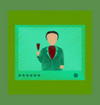 flat shading style icon president on tv vector image vector image