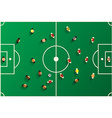 Football Top View Playground with Players Soccer