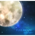 full moon on the night starry sky background vector image vector image