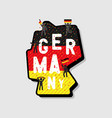 germany map and soccer or football fans cheering vector image vector image