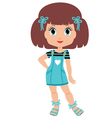 girl cartoon vector image vector image