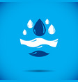 global water circulation logo for use as vector image vector image