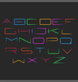 glowing neon font typography mockup set of vector image