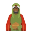 half body brunnette wise man with offering vector image vector image