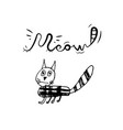 hand drawn doodle cat vector image vector image