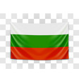hanging flag bulgaria republic bulgaria vector image