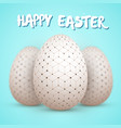 happy easter painted egg vector image vector image