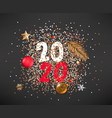 happy new 2020 year concept different celebration vector image vector image