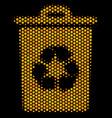 hexagon halftone recycle bin icon vector image vector image