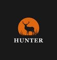 hunter deer logo design inspiration vector image vector image