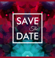 image of square shaped save the date logo vector image vector image