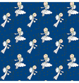 Little angels pattern vector image vector image