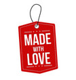 made with love label or price tag vector image vector image
