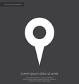 map pin premium icon white on dark background vector image