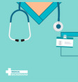 medical background with close up doctor with vector image vector image