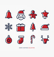 merry christmas decoration logo set vector image vector image