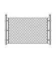 metal chainlink fence vector image vector image