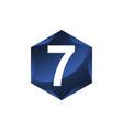 modern number 7 vector image