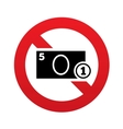 No Cash sign icon Coin and paper money symbol vector image
