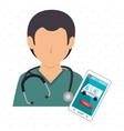 nurse stethoscope medical service vector image vector image