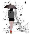 One autumn day in Paris vector image vector image