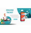 online travel store online ticket booking vector image vector image