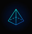 pyramid colorful icon vector image