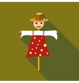 Scarecrow icon flat style vector image vector image