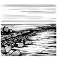 seascape beach sketch vector image vector image