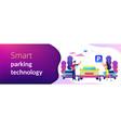 self-parking car system concept banner header vector image vector image