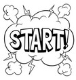 start word comic book coloring vector image vector image