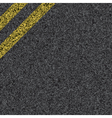 stripes on asphalt vector image vector image