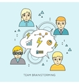 Team Brainstorming Concept vector image vector image