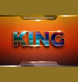 text effect in 3d king words font styles theme