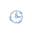 timeclock line icon concept timeclock flat vector image vector image