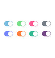 toggle button switch slider web ui icons vector image