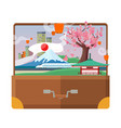 travel to japan flat style concept vector image vector image