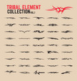 tribal tattoo design elements set vector image