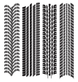 various tyre treads vector image vector image