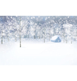 winter house forest vector image vector image