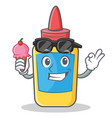 with ice cream glue bottle character cartoon vector image