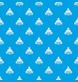 zombie dark pattern seamless blue vector image vector image
