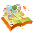 Book about funny girl vector image