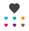 of business symbol on hearts vector image