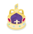 A royal crown icon isometric 3d style vector image vector image