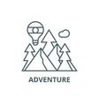 adventure line icon adventure outline vector image