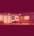 asian restaurant chinese or japanese empty cafe vector image vector image