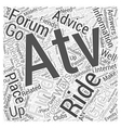 ATV Forums Word Cloud Concept vector image vector image